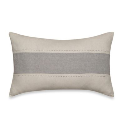Nautica® Margate Boudoir Oblong Toss Pillow in Grey