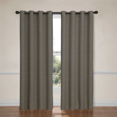 Insola Brooke 84-Inch Grommet Blackout Window Curtain Panel in Tan