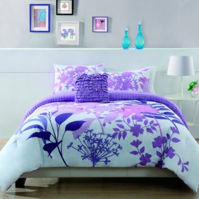 Lavender Shadow Botanical King Comforter Set