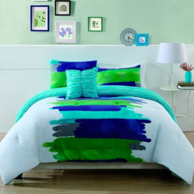 Watercolor King Comforter Set