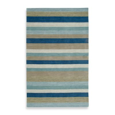 Rizzy Home Platoon 2-Foot x 3-Foot Area Rug in Blue Stripe