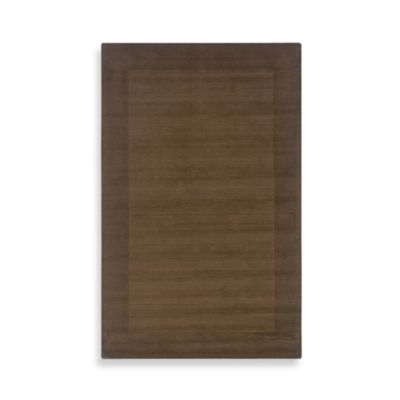 Rizzy Home Platoon 2-Foot x 3-Foot Area Rug in Brown Border