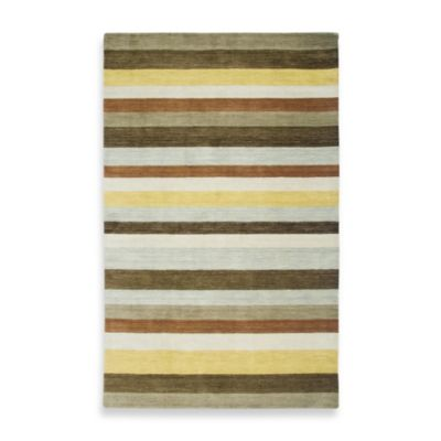 Rizzy Home Platoon Area Rug in Brown/Multi