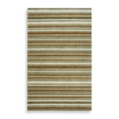 Rizzy Home Platoon Area Rug in Brown Stripe