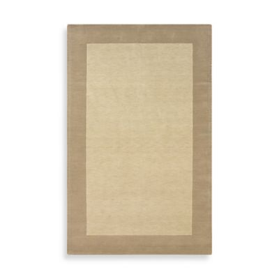 Rizzy Home Bordered Platoon Area Rug in Light Beige