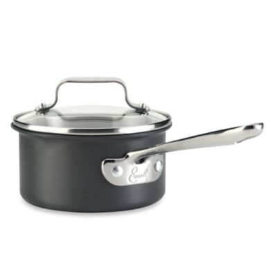 Emerilware™ Hard Anodized Dishwasher Safe Nonstick 1-Quart Saucepan with Lid