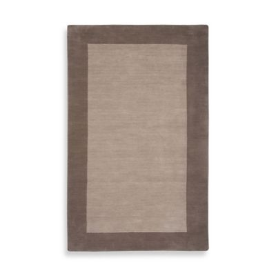 Rizzy Home 5-Foot x 8-Foot Bordered Platoon Area Rug in Light Brown