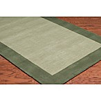 Rizzy Home Bordered Platoon Area Rug in Light Green