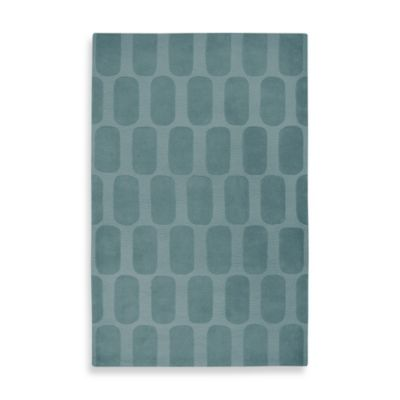 Rizzy Home Geometric Platoon Area Rug in Medium Blue