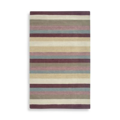 Rizzy Home Platoon Collection 5-Foot x 8-Foot Plum Rug