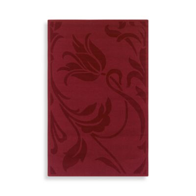 Rizzy Home Platoon Collection 3-Foot x 5-Foot Red Floral Rug