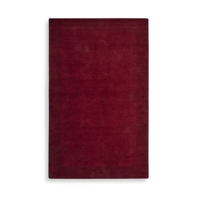 Rizzy Home Platoon Collection 2-Foot x 3-Foot Solid Red Rug