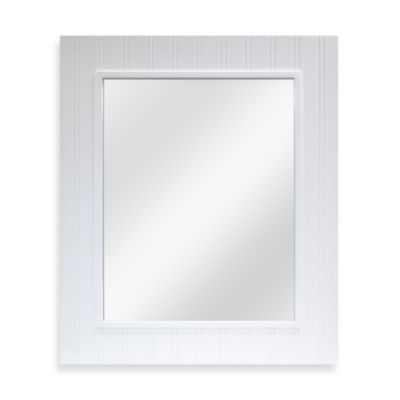 Wainscot Mirror in White