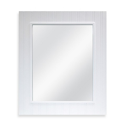 Wainscot Mirror in White Bed Bath & Beyond