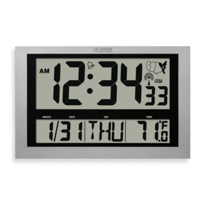 La Crosse Technology Atomic Digital Wall Clock with Jumbo LCD