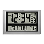 La Crosse® Atomic Digital Wall Clock with Jumbo LCD