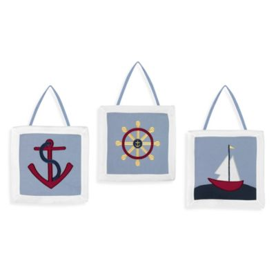 Sweet Jojo Designs Come Sail Away 3-Piece Wall Hanging Set