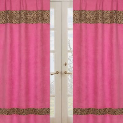 Sweet Jojo Designs Cheetah Girl Window Panel Pair
