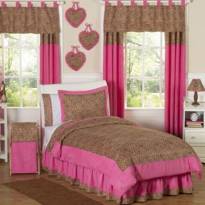 Sweet Jojo Designs Cheetah Girl Twin Bedding Set