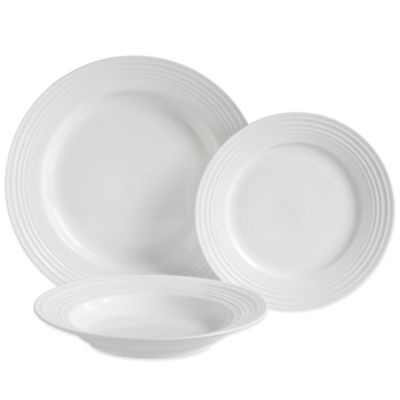 Luigi Bormioli Eterno 12-Piece Dinnerware Set in White