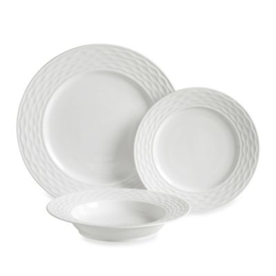 Luigi Bormioli 12-Piece Dinnerware Set in Gusto White