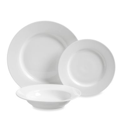 12-Piece White Dinnerware Set