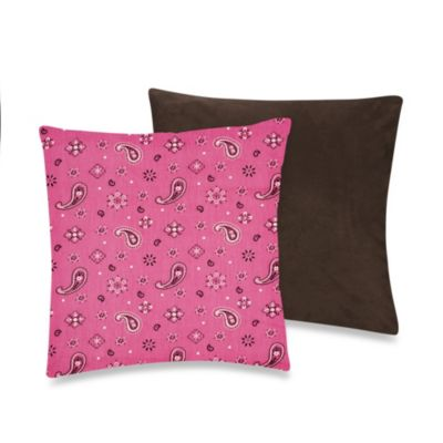 Sweet Jojo Designs Cowgirl Throw Pillow in Bandana Print