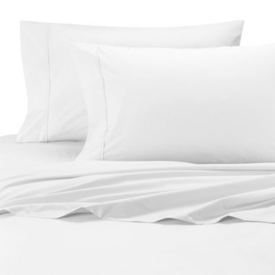 Wamsutta® Cool Touch Percale Egyptian Cotton Olympic Queen Fitted Sheet in White