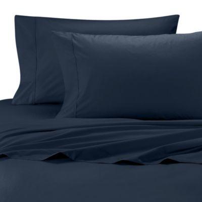 Navy Percale Pillowcase