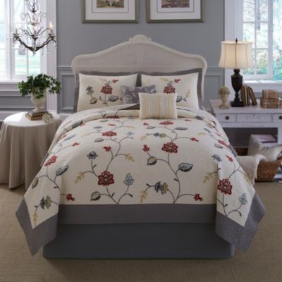 Nostalgia Home™ Giselle Twin Quilt in Red/Grey