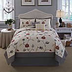 Nostalgia Home™ Giselle Quilt Set in Red/Grey