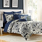 Indigo Bloom Comforter and Sham Set