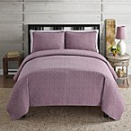 Intrigue 3-Piece Quilt Set in Purple/White
