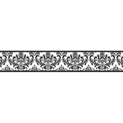 Sweet Jojo Designs Isabella Wallpaper Border in Black/White