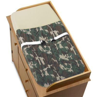 Sweet Jojo Designs Camo Changing Pad Cover in Green