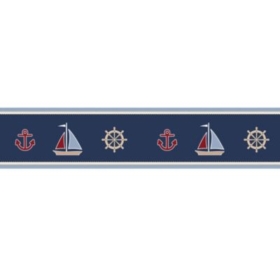 Sweet Jojo Designs Nautical Nights Wallpaper Border