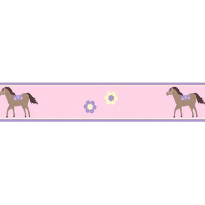 Sweet Jojo Designs Pretty Pony Walllpaper Border