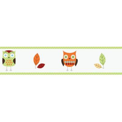 Sweet Jojo Designs Hooty Wallpaper Border in Turquoise/Lime
