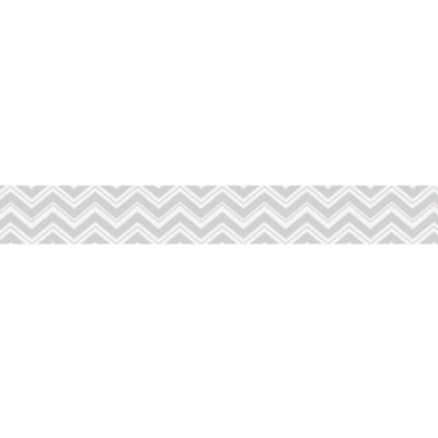 Sweet Jojo Designs Zig Zag Wall Paper Border in Turquoise/Grey