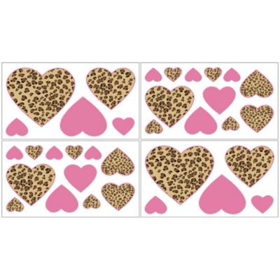 Sweet Jojo Designs Cheetah Girl Wall Decals