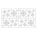 Sweet Jojo Designs Diamond Wall Decals in Grey/White