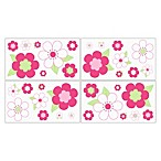 Sweet Jojo Designs Flower Wall Decals in Pink/Green