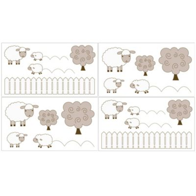 Sweet Jojo Designs Little Lamb Wall Decals (Set of 4)