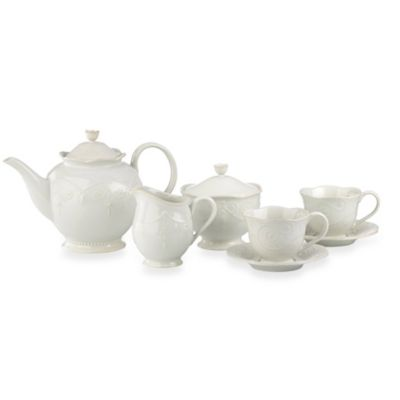 Lenox® French Perle 7-Piece Tea Set in White