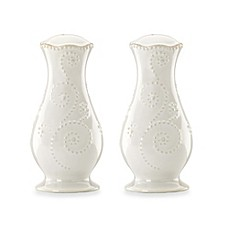 Lenox® French Perle Salt and Pepper Shakers in White