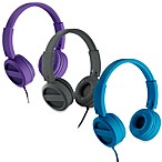iHome® Rubberized On-Ear Headphones