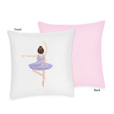 Sweet Jojo Designs Ballerina Decorative Toss Pillow
