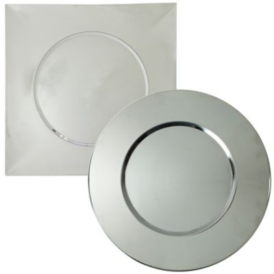 Bridal Metal 12.8-Inch Round Charger Plates (Set of 4)