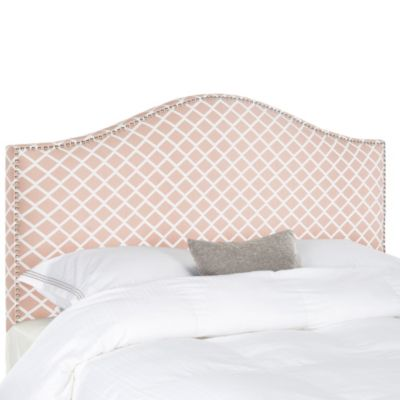 Safavieh Connie Queen Headboard in Peach/Pink