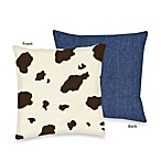 Sweet Jojo Designs Cowgirl Cow Print Toss Pillow